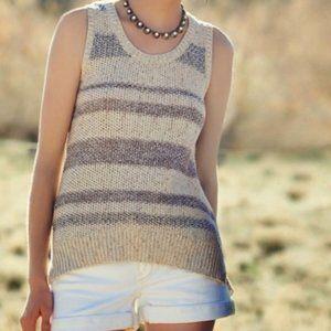 Anthro Sparrow Striped Sweater Tank